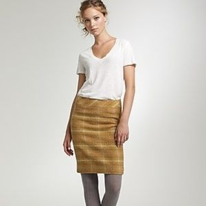 J Crew Mustard Sunnie Plaid Wool Pencil Skirt NWT